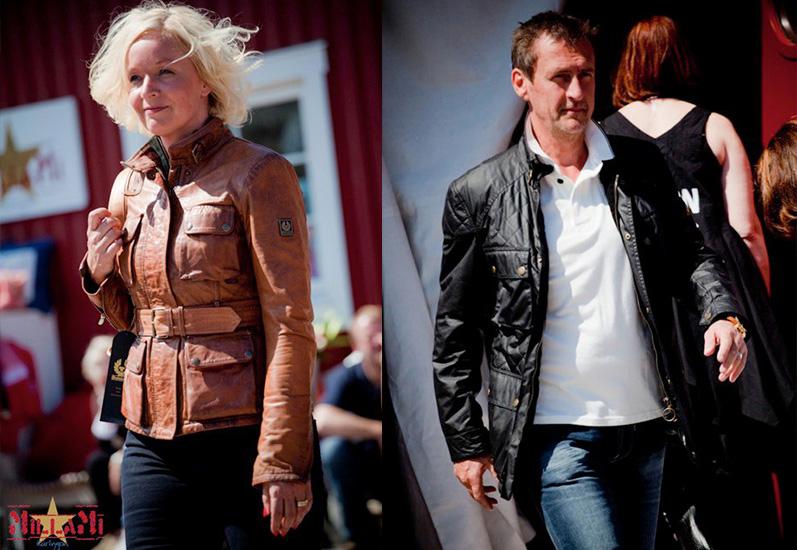 Här ser vi Lisa & Janne, både går varsin jackmodell från märket Belstaff.